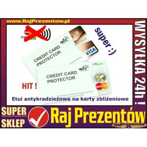 Etui antykradzieżowe na karty zbliżeniowe