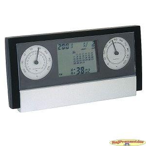Zegar na biurko ze stacją pogodową